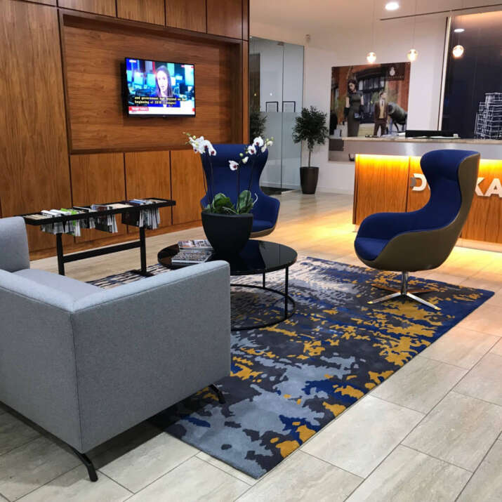 Durkan Office Reception Seating Area Hand Tufted Rug