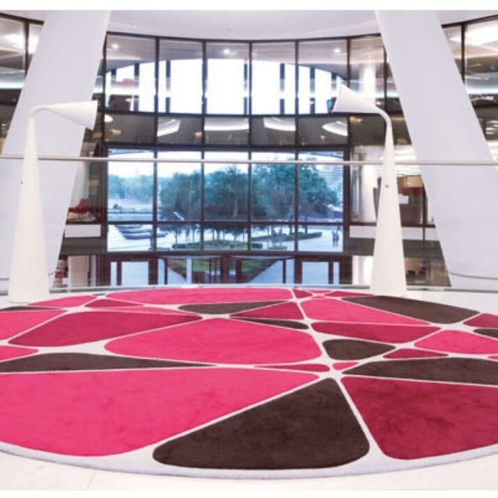 MORE London - Circular Podium Seating Area Hand Tufted Rugs