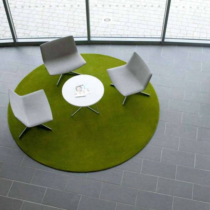 Custom Made Round Hand Tufted Commercial Rug
