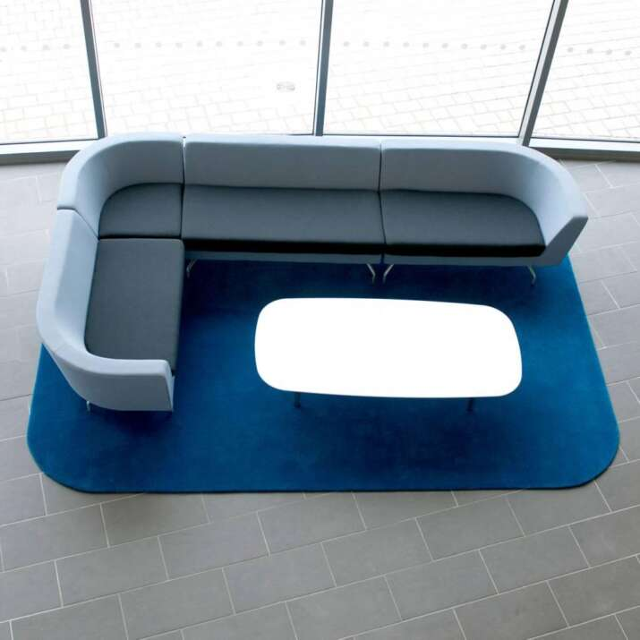 Shaped Office Atrium Reception Seating Area Rugs