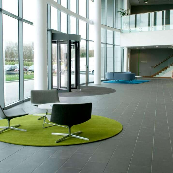 Circular & Shaped Reception Seating Area Rugs