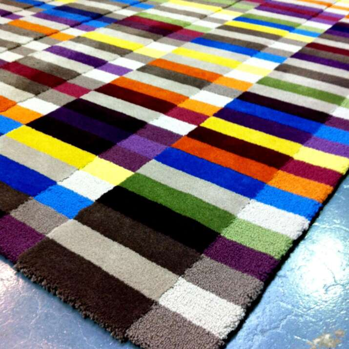 Hand Painted Designed Rug