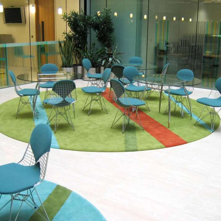 Circular Office Atrium Seating Area Rugs Commercial