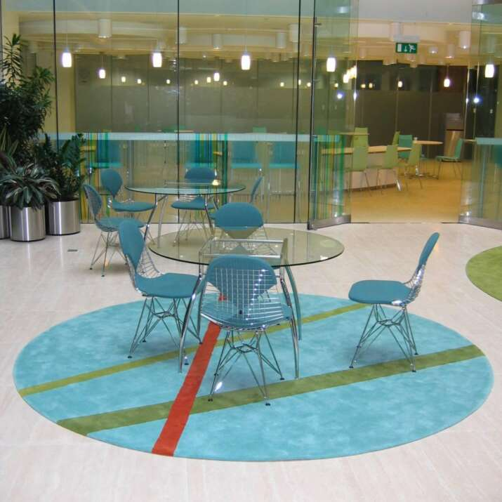 Circular Office Atrium Refectory Seating Area Rugs