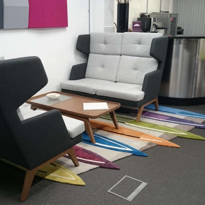 Office break out area rugs and meeting room rugs.