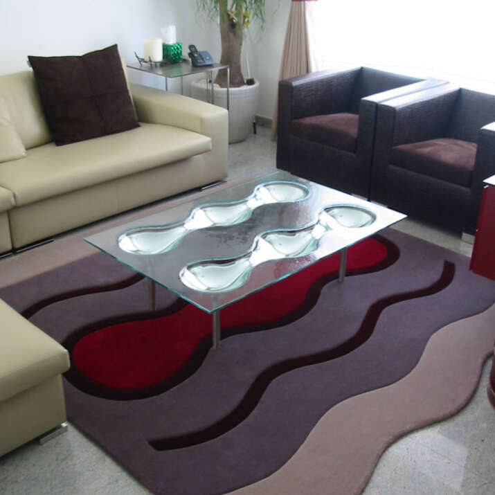 Hand Tufted Wool Rug Seating Area