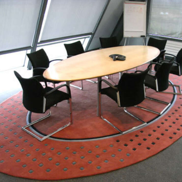Oval Meeting Room Bespoke Hand Tufted Rug