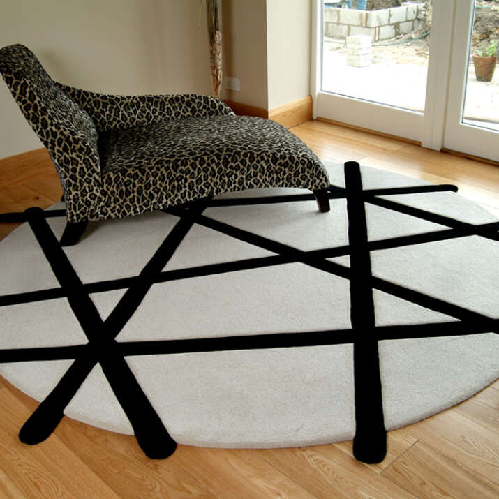 Hand Tufted Pure Loop Pile & Carved Rug