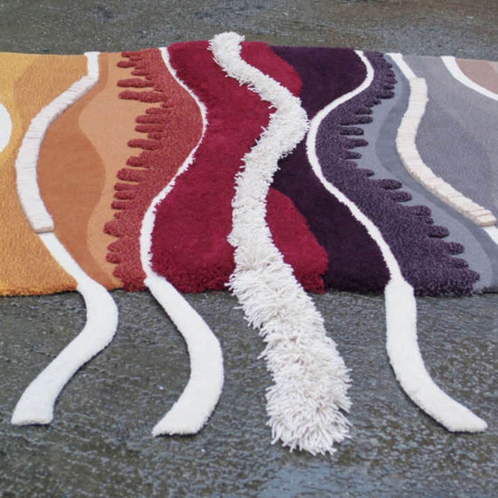 Hand Tufted Pure Wool Cut & Loop Pile Rug